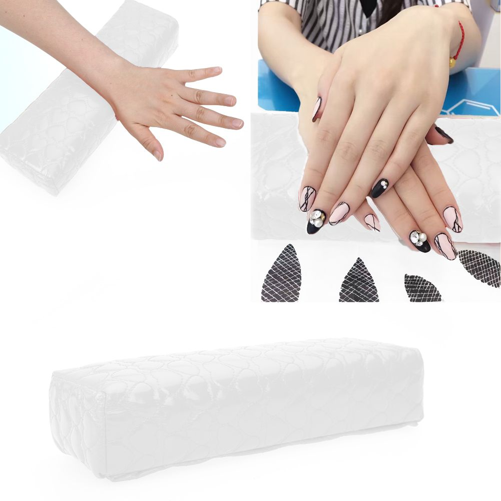 Nail Art Pillow Hand Arm Rest Relaxation Fingernail Painting Design Soft Cushion Pu Leather Manicure Nail Pillows Chrome Nail Powder Nails Nail Decals