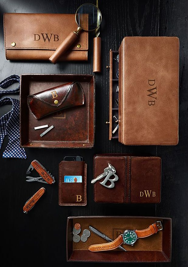 c7c36be7965f All leather everything for the manly man on Father s Day.