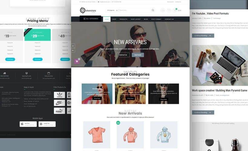 Shopstore A Complete Wordpress Ecommerce Theme To Sell Products Online Wordpress Theme Wordpress Wordpress Store