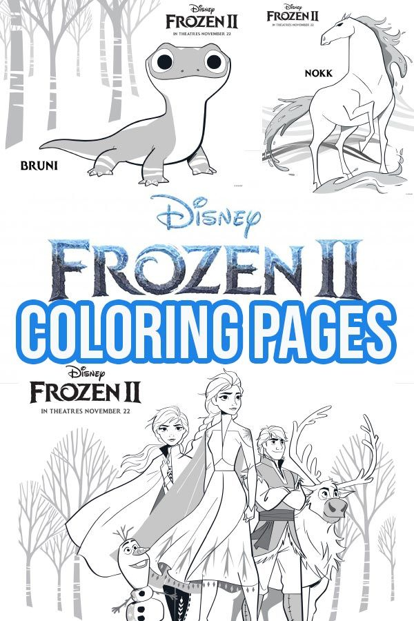 Free Printable Frozen 2 Coloring Pages And Activities Melhores