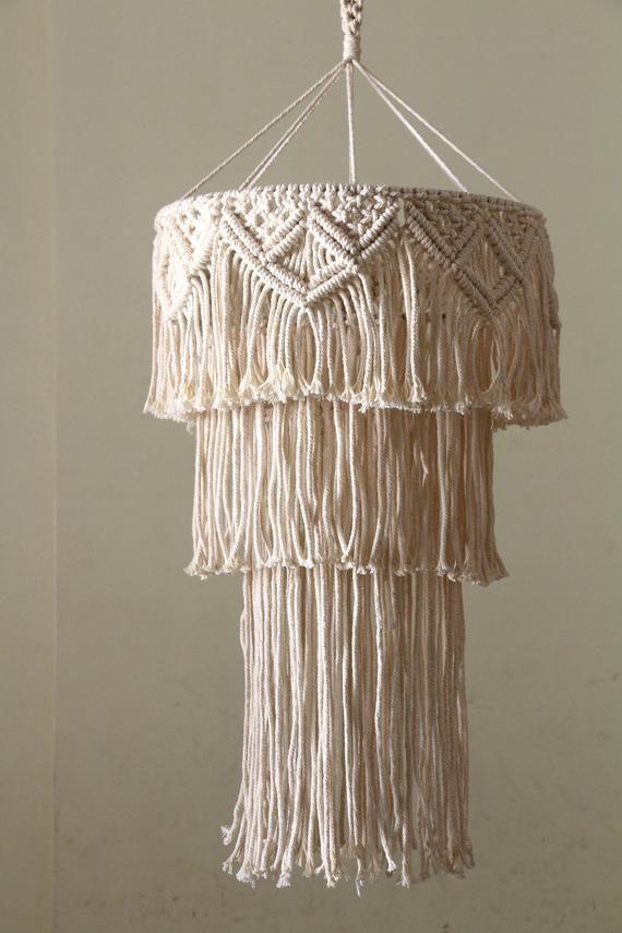BOHO Macrame Lamp Light Shade Fabric
