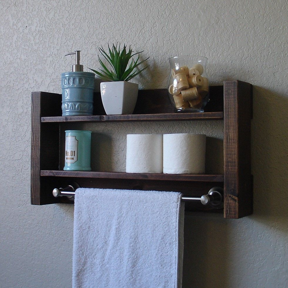 Modern Rustic Mail Organizer with Shelf | Shelves, Towels and Modern