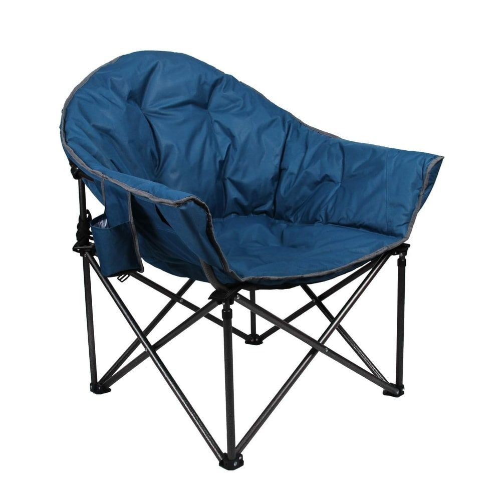 Alpha Camp Oversized Camping Chairs Padded Moon Round Chair Saucer