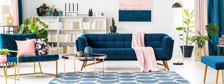 Wohnzimmer Einrichten in Blau Pinterest Originals - wohnzimmer blau holz
