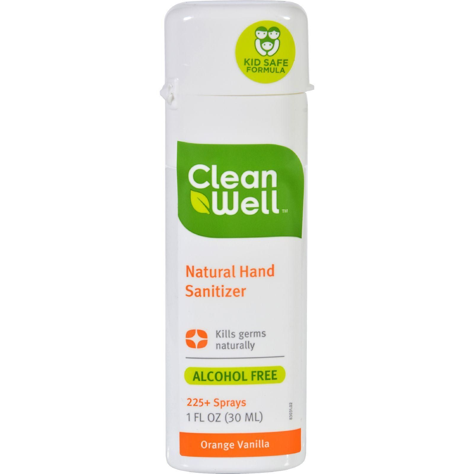 Cleanwell Hand Sanitizer Display Orange Case Of 24 1 Oz