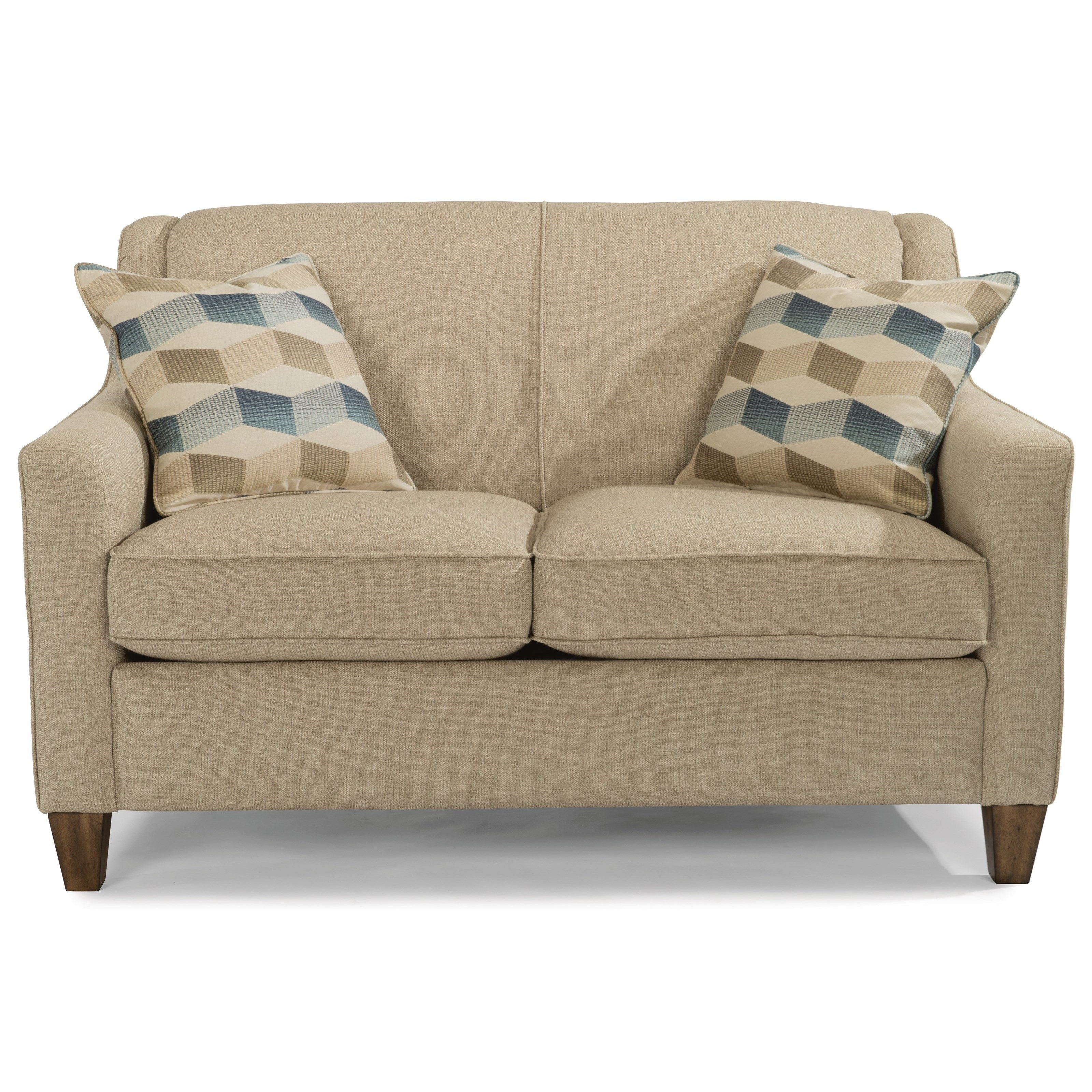 Holly Contemporary Loveseat With Welt Cording By Flexsteel