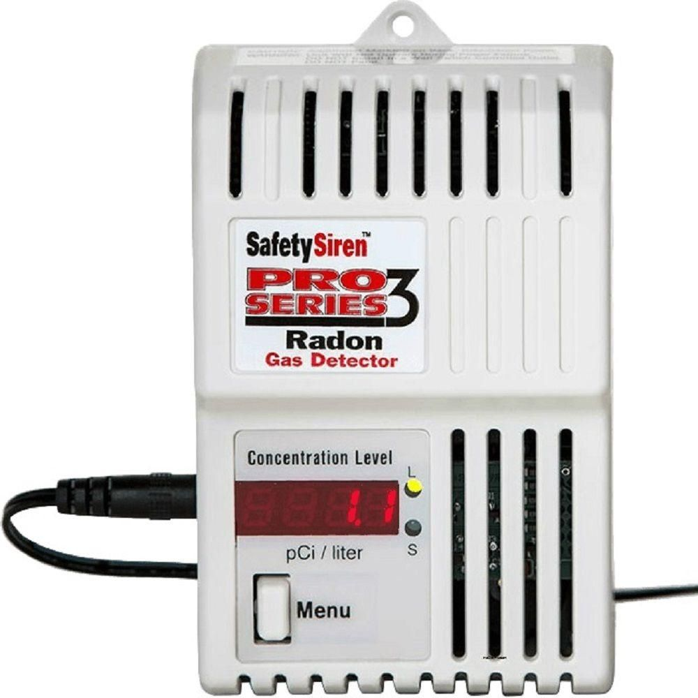 Safety Siren Pro Series 3 Electronic Gas Radon Detector Gas Detector Family Safety Home Protection