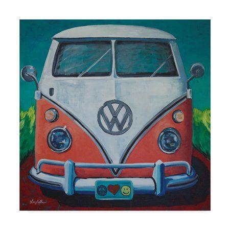 Trademark Fine Art Volkswagen Van Bohemian Dream Canvas Art By Hippie Hound Studios Walmart Com Bus Art Hippie Van Art Volkswagen Bus Art