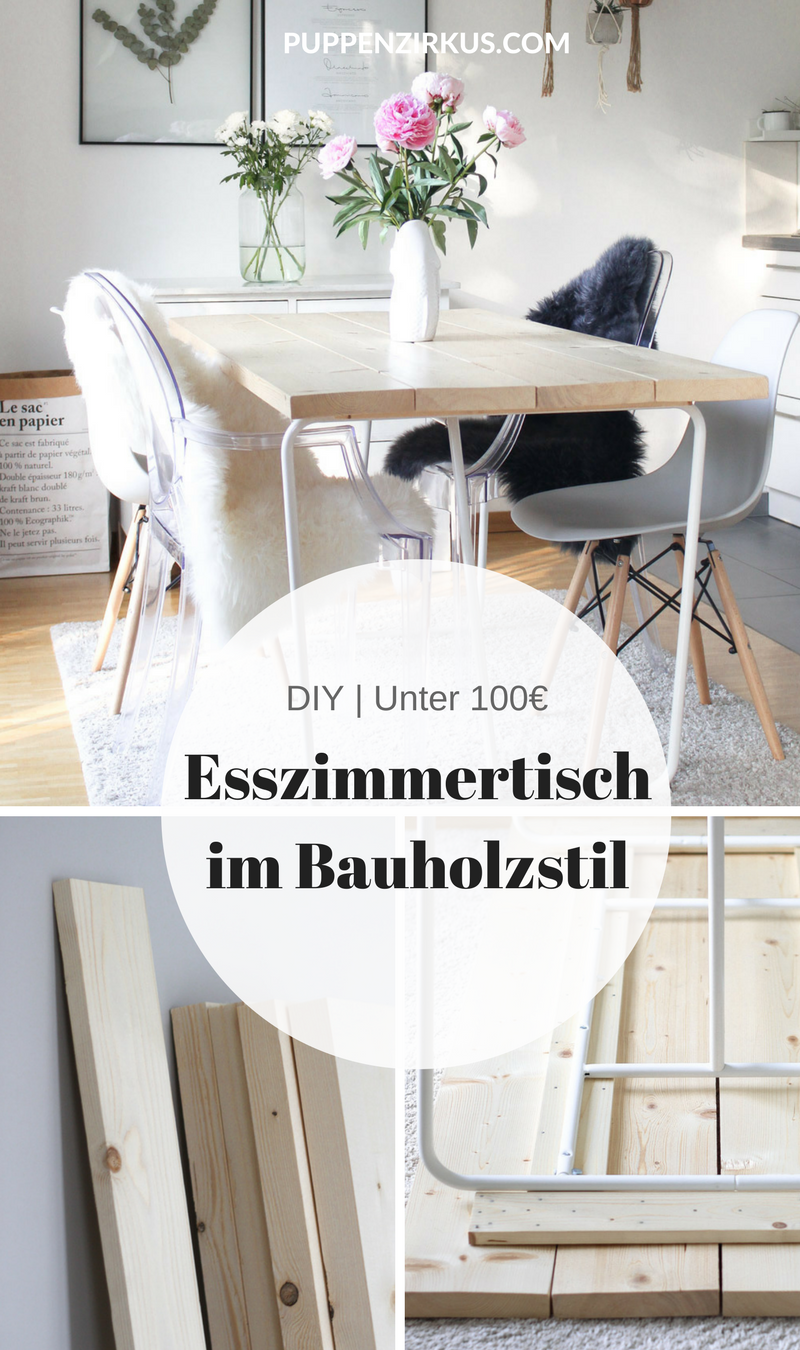 diy esszimmertisch selber machen puppenzirkus pinterest tisch esstisch und diy m bel. Black Bedroom Furniture Sets. Home Design Ideas