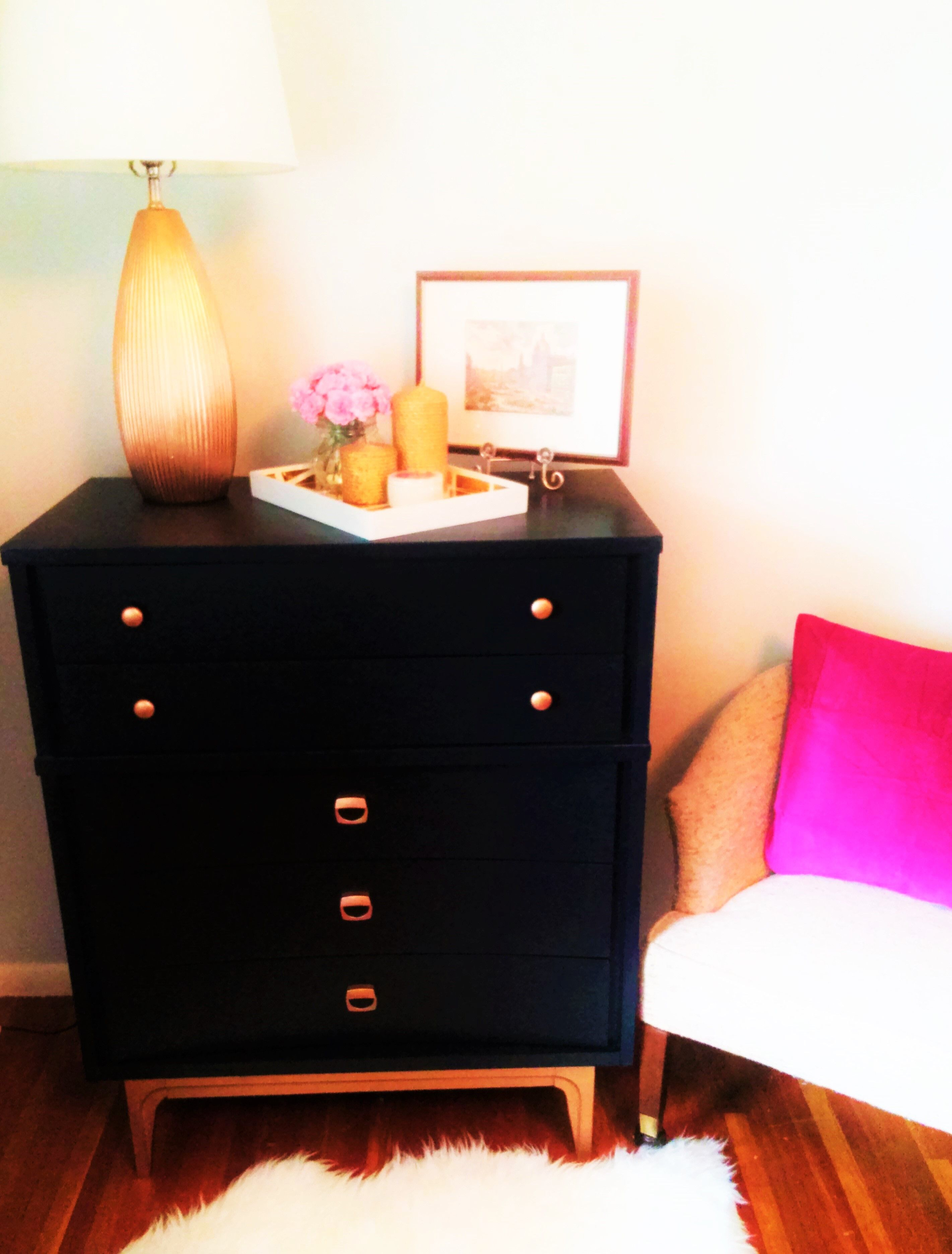 Best Black Midcentury Modern Dresser With Gold Dipped Legs And 400 x 300