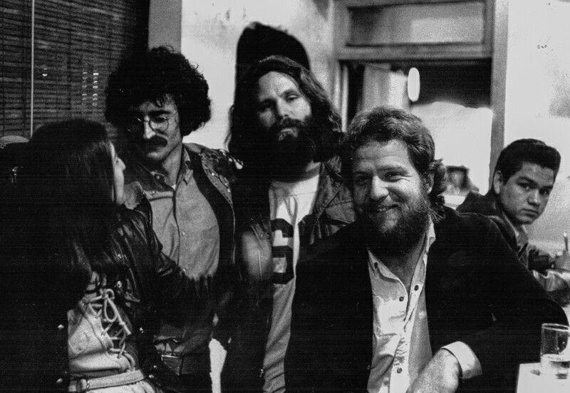 """Kathy Lisciandro, John Haeny, Jim and Frank Lisciandro, the lucky u taco joint during a break from recording """"American prayer"""""""