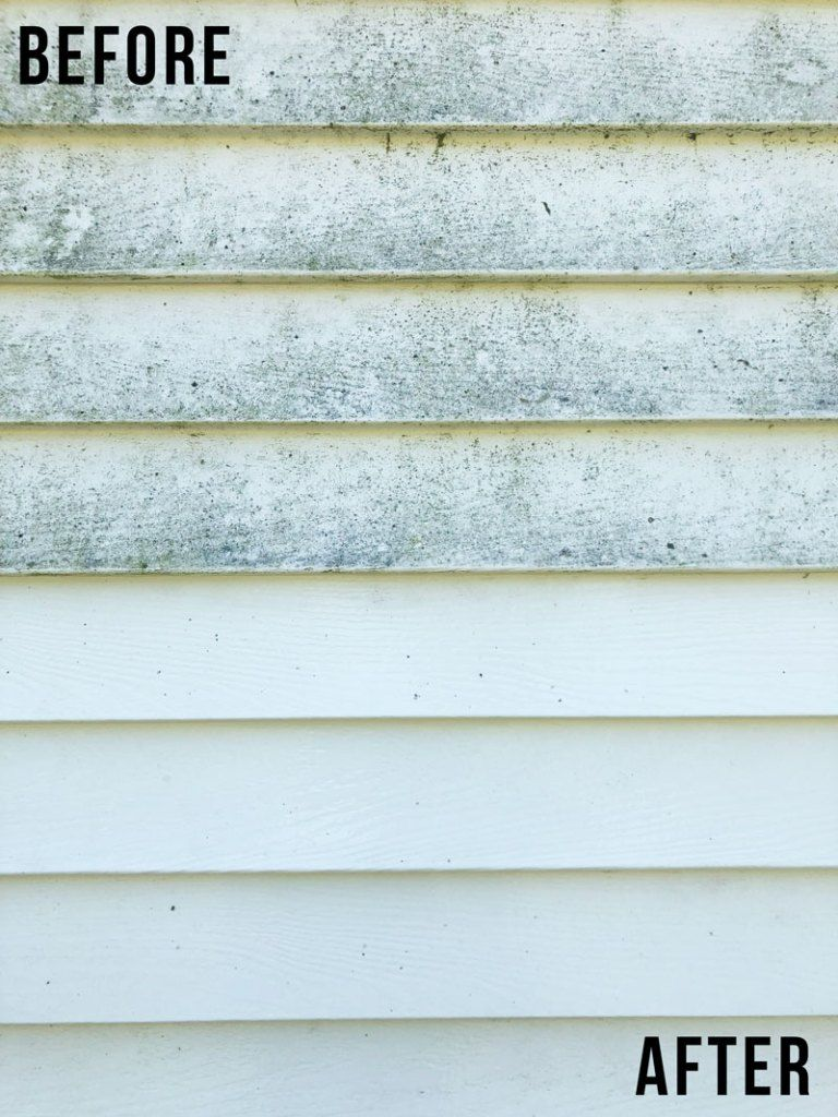 How To Clean Vinyl Siding Home Exterior Cleaning Nikki S Plate In 2020 Cleaning Vinyl Siding Vinyl Siding Cleaning Aluminum Siding