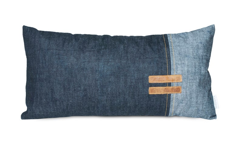 Denim throw pillow jeans cushion mens pillow jeans with