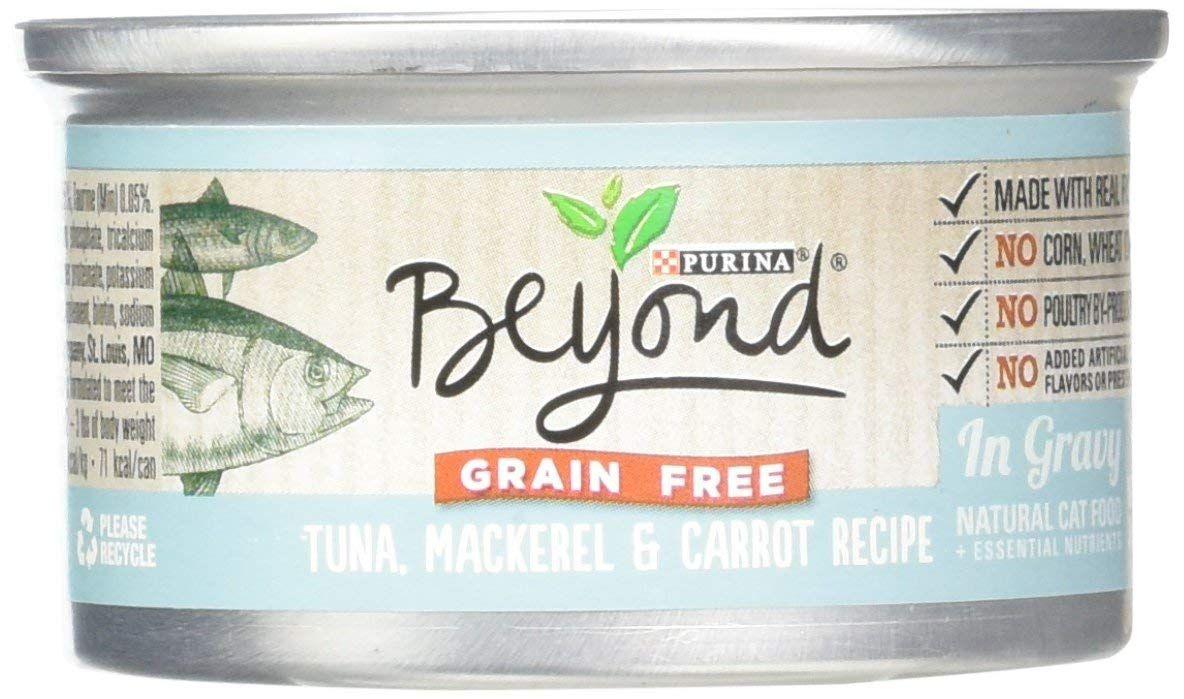 Purina beyond natural canned cat food grain free tuna
