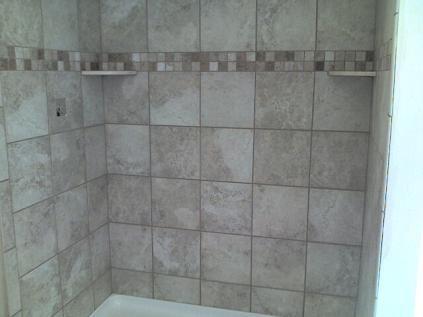 12x12 floor tiles used on walls around