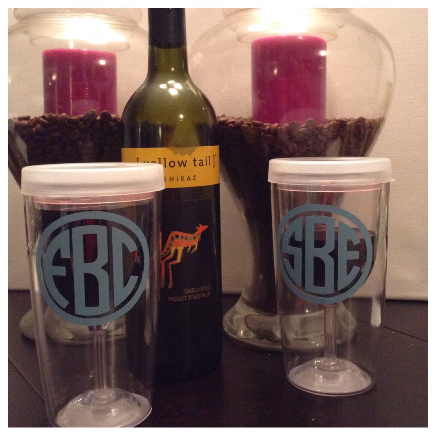 Our custom monogrammed wine tumblers are perfect for all your low-key and fun occasions. Wine 2 Go cups are the perfect wine tumbler to take to the pool, beach, cookout, etc. The also make great birthday presents and Bridesmaid gifts! Hand-wash onlyIn the note section please specify how you will like your monogramIE: First Name-Last Name-Middle Name (SEB is written as SBE)Ships in 5 business days
