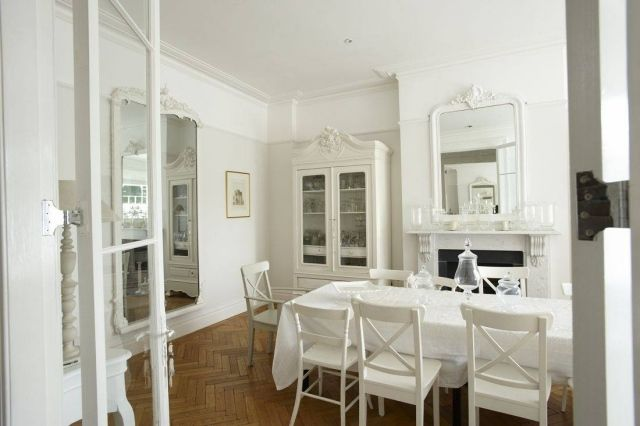 weiße vintage möbel-anstrich-ideen für wohnungseinrichtung-küche, Kuchen deko