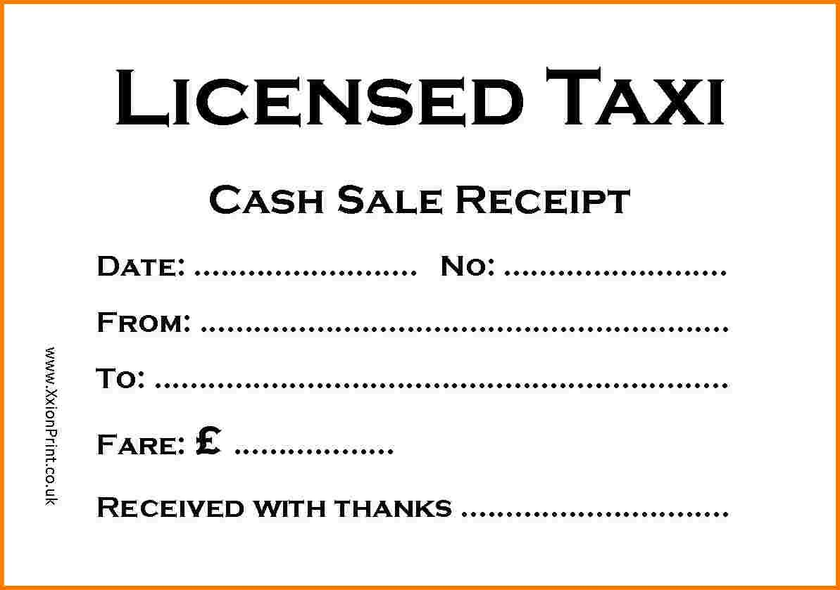 The Extraordinary Taxi Receipt Template Printable Receipt Template Inside Blank Taxi Receipt Template Photograph Below Is Segment Of Blank