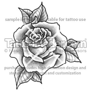 Single Rose Tattoo Design By Edward Lee Tattoo Tattoos Tattoo