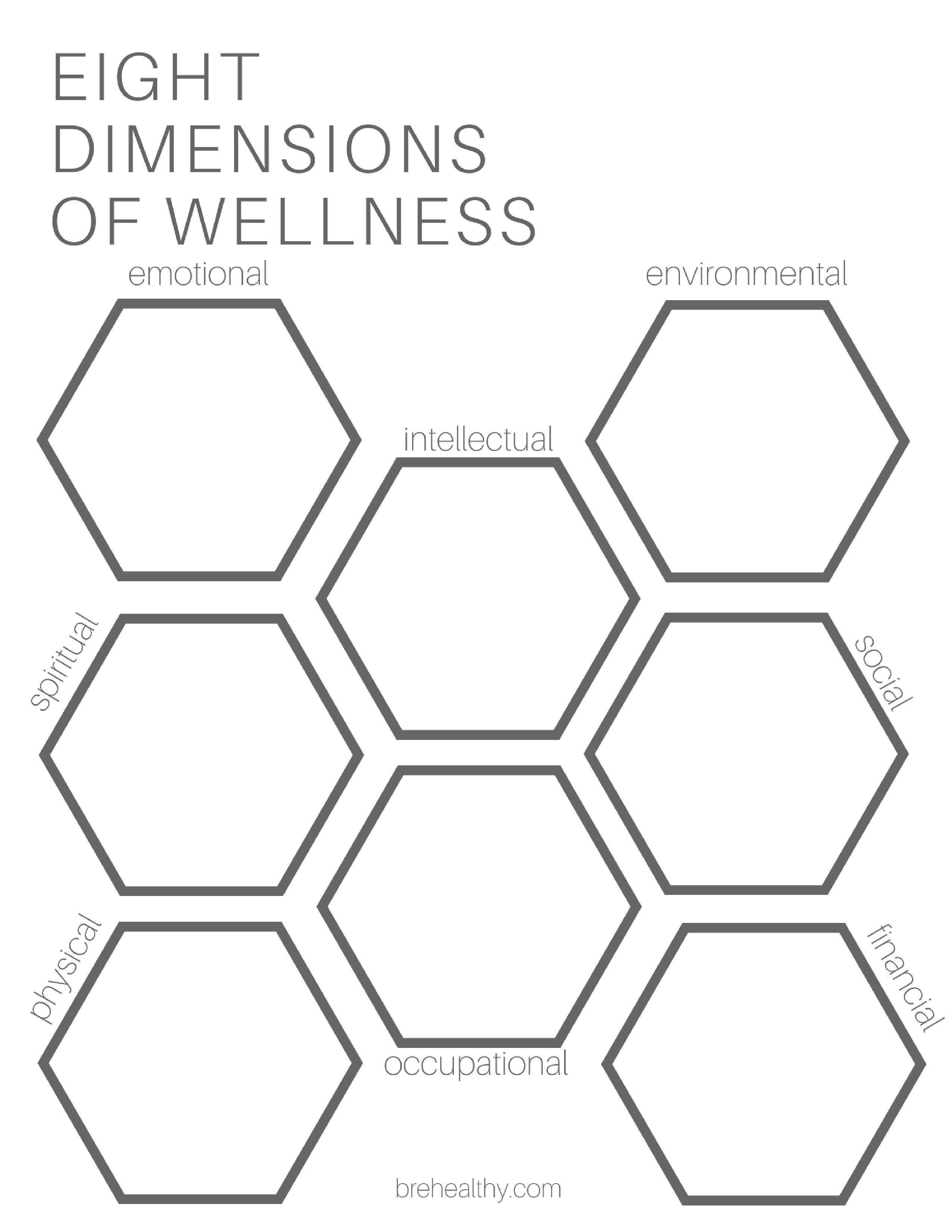 8 Dimensions Of Wellness Free Printable Free Download Free Chart Financial Occupationa Health Lesson Plans Health Education Lessons Emotional Wellness