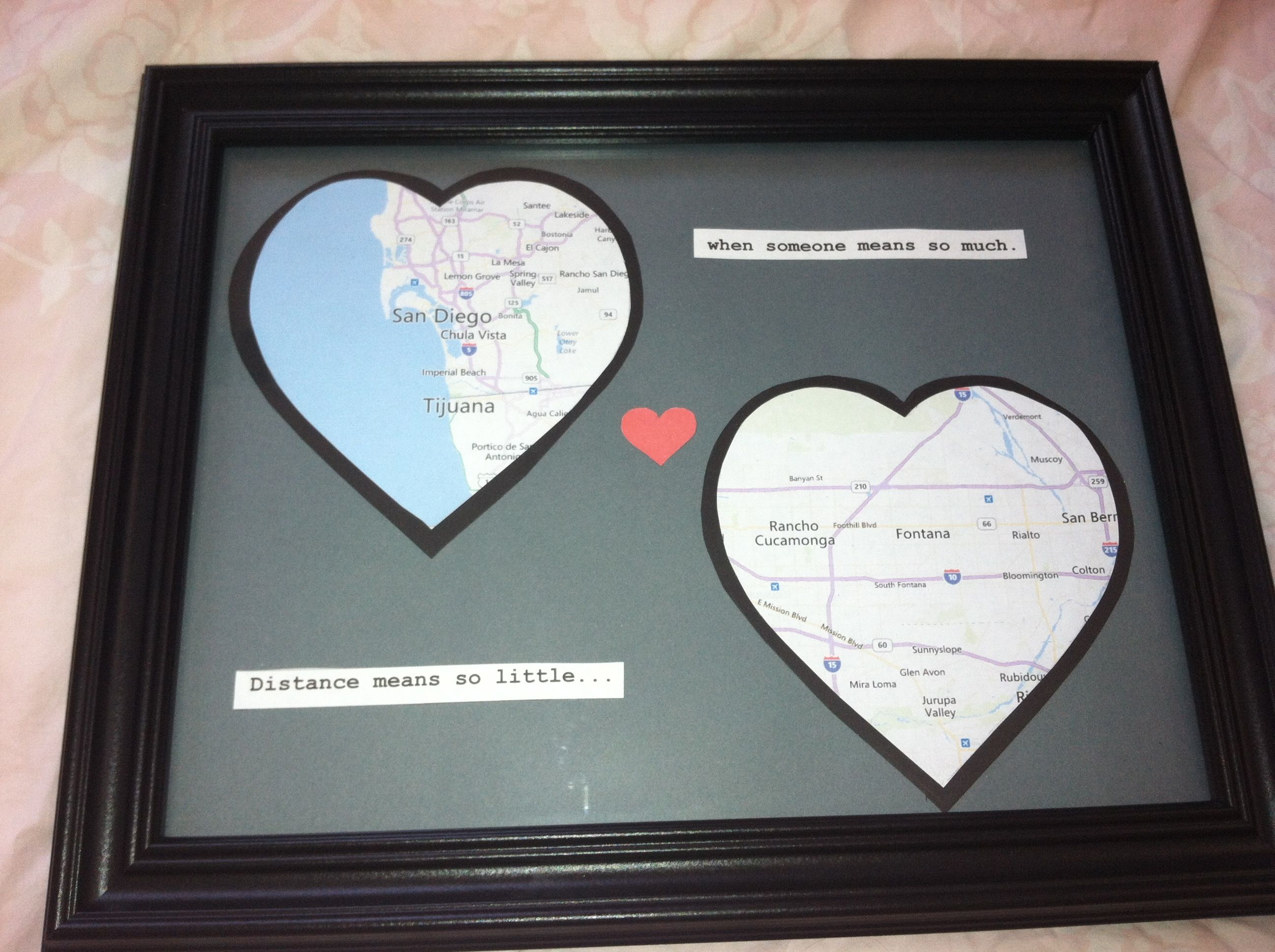 Long distance relationship gift DIY. I NEED to remember to