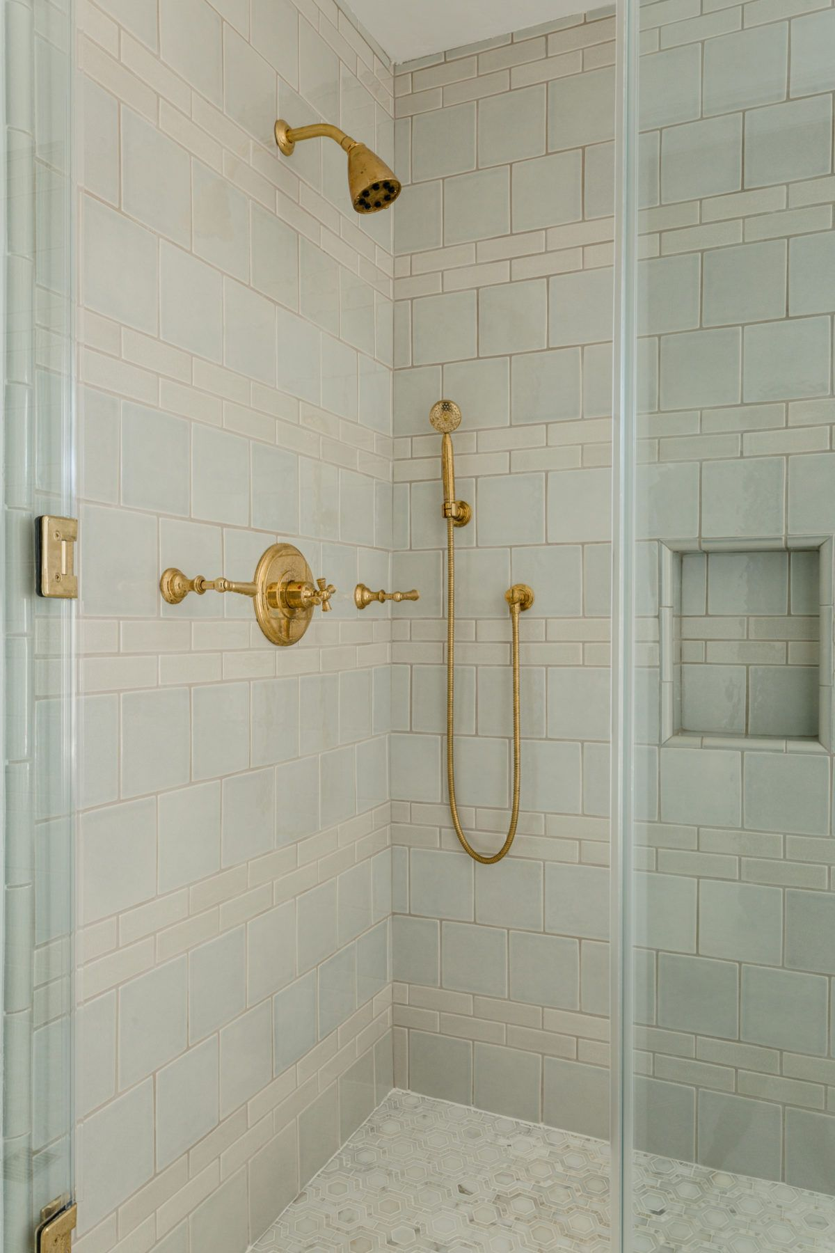 brass shower