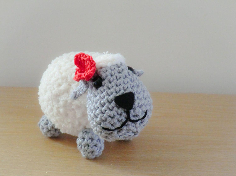 Amigurumi Magazine Pdf : Amigurumi shhep with red flower pdf crochet pattern by