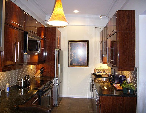 Small galley kitchen makeovers kitchen cabinetry for Galley kitchen remodel