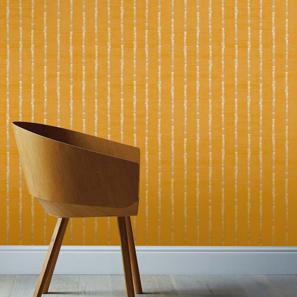 Arthouse Silk Road Stripe Ochre Wallpaper Homebase O