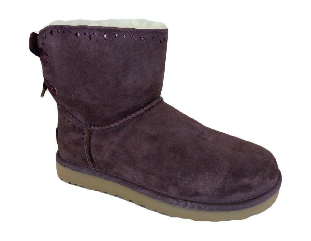 Ugg Australia Women's Dixi Flora Perf Boots 1010285 Port ...