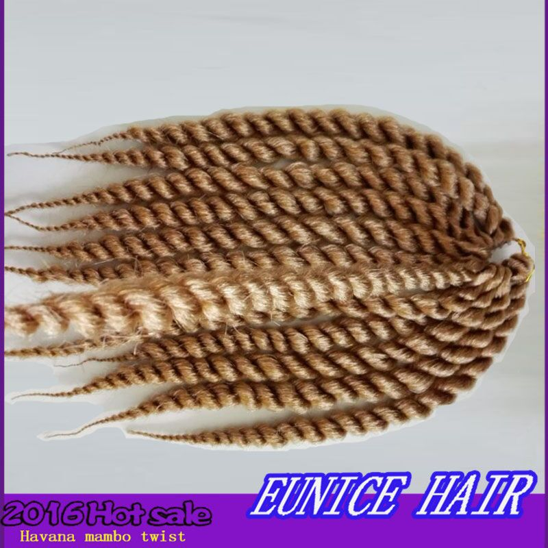 """#27 light brown 12"""" length havana mambo twist braids 80g/pack 5 pcs full one head for children  http://www.aliexpress.com/store/product/10-12-14Inch-12roots-piece-havana-mambo-twist-crochet-braiding-hair-for-children-and-women-2016/1963011_32591055514.html"""