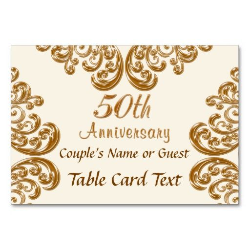 Lovely Custom Photo And Personalized 50th Anniversary Place Cards With The S Names Or Any