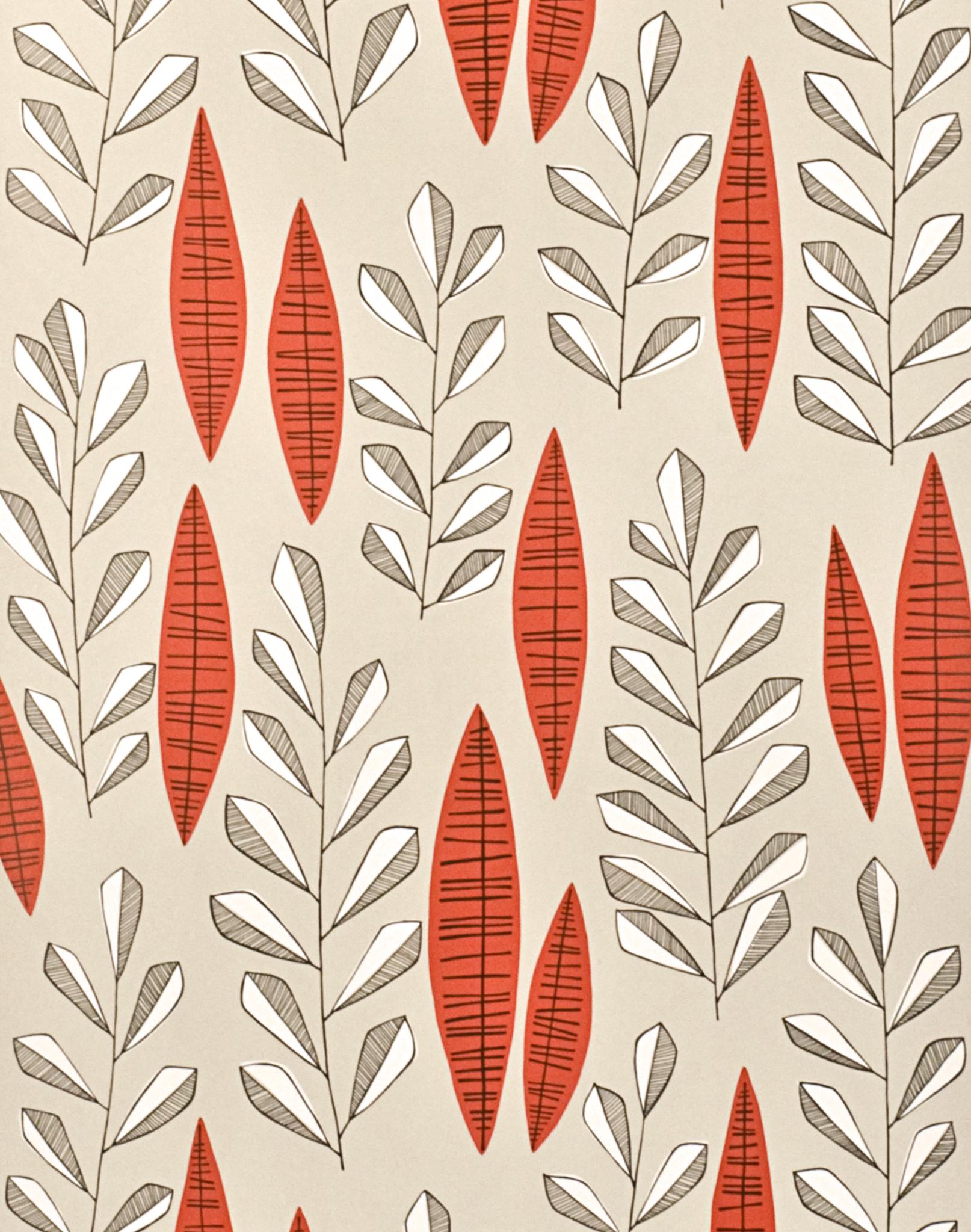 Garden City Putty Rouge Retro Tapet Pattern Wallpaper City Wallpaper