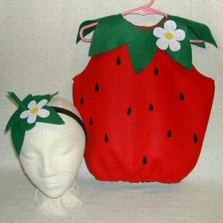 1cf92f561 Frutilla   Disfraces   Disfraz de frutas, Trajes de frutas y Disfraz ...