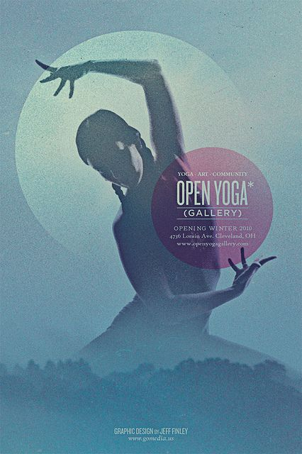 Open Yoga Gallery flyer Yoga and Print layout - yoga flyer