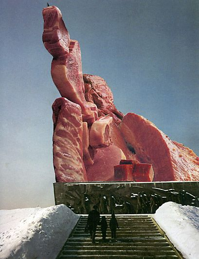 Meat Monument (Moscow) by Nicolas Lampert
