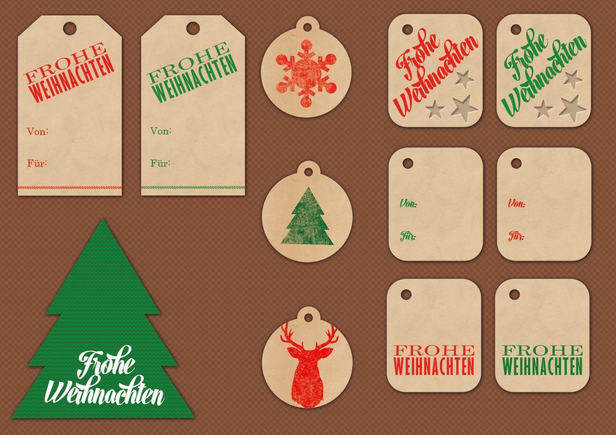 geschenkanh nger zum ausdrucken f r weihnachten miomodo blog freebies pinterest. Black Bedroom Furniture Sets. Home Design Ideas