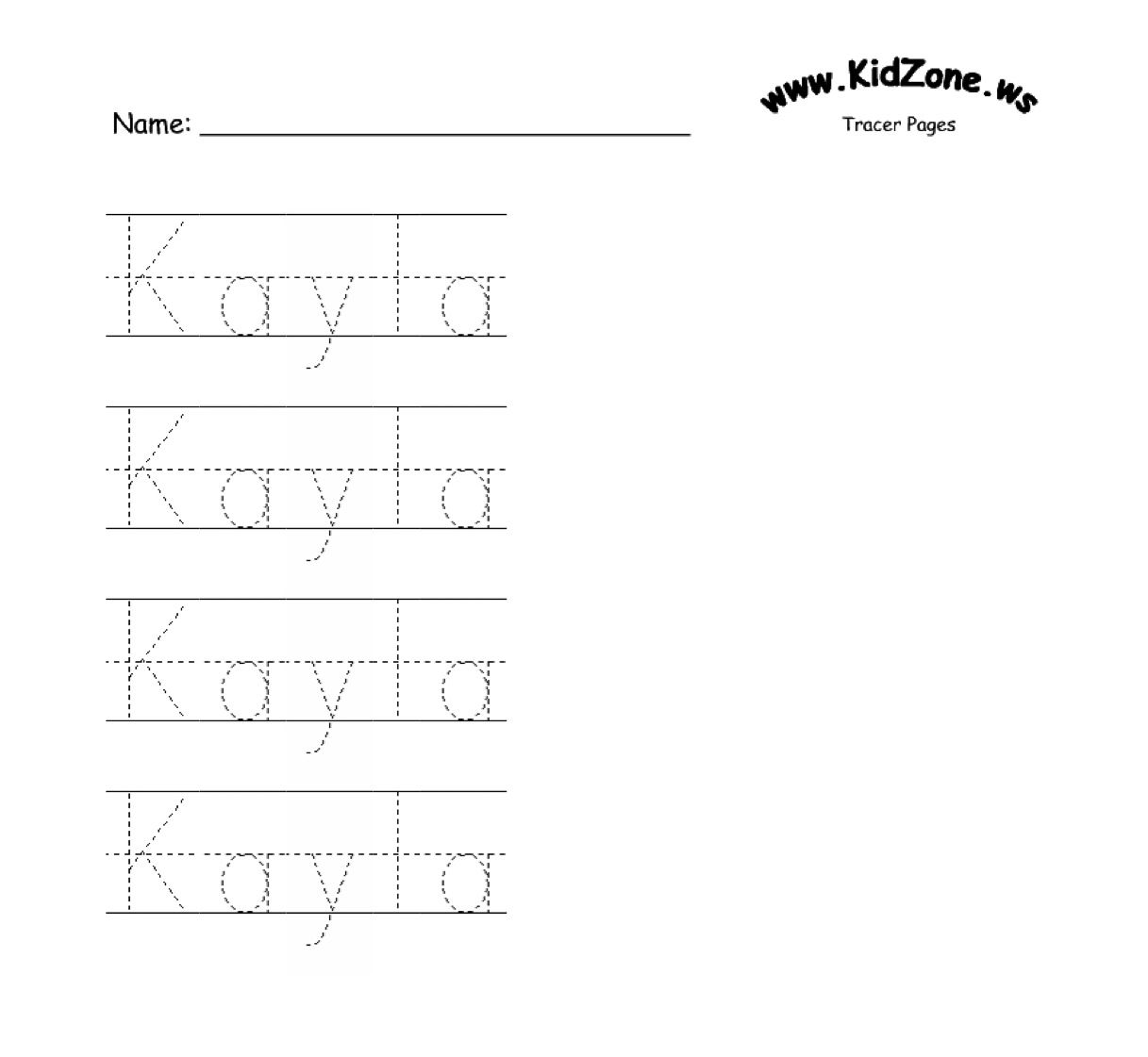 Custom Name Tracer Pages | Preschool writing, Name tracing ...