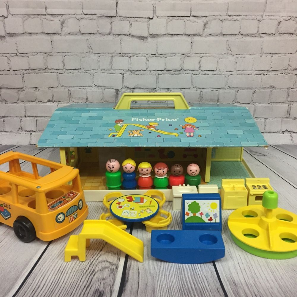 Little people car toys  Vintage Fisher Price Little People Play Family Nursery School