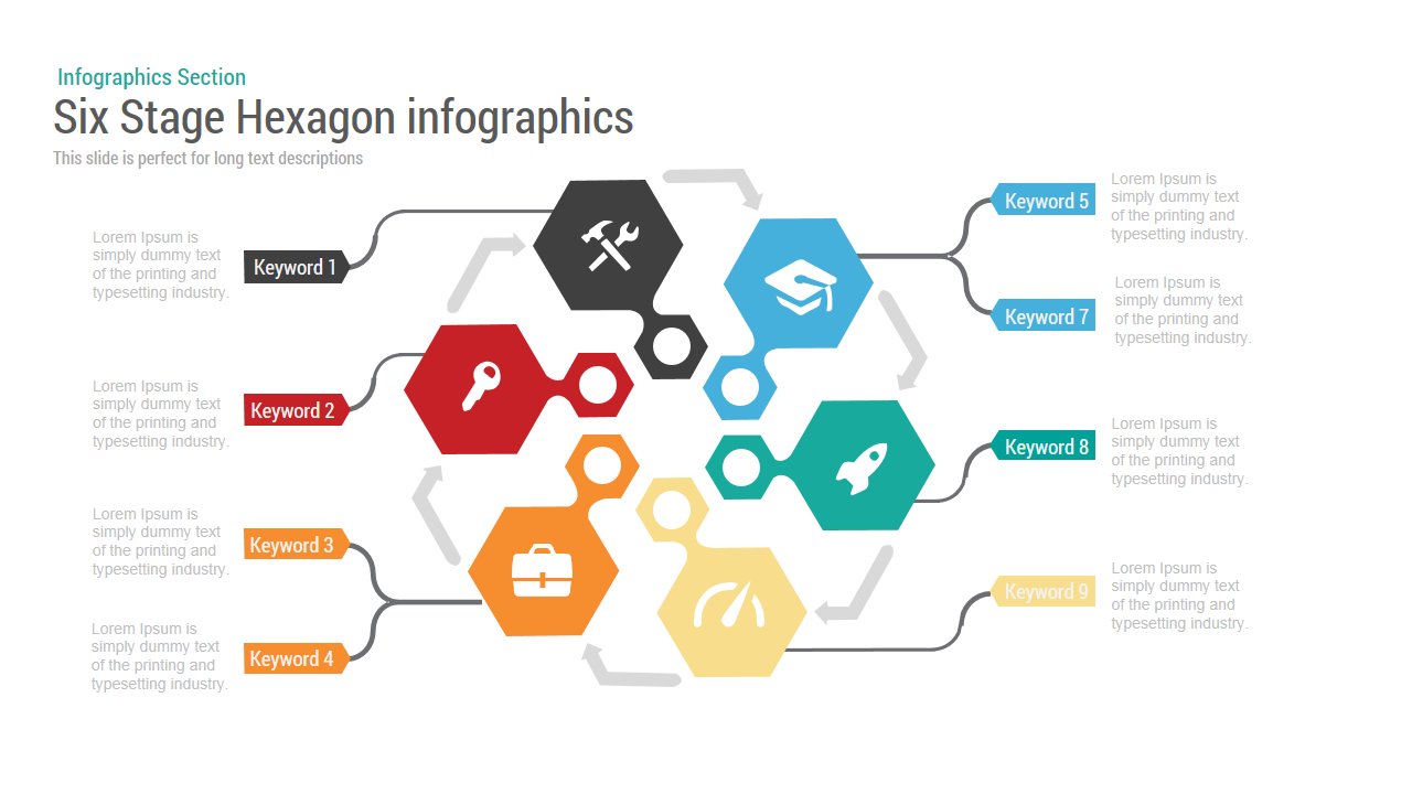 3d Cube Diagram Powerpoint And Keynote Template Slidebazaar Browse Six Stage Hexagon Chart
