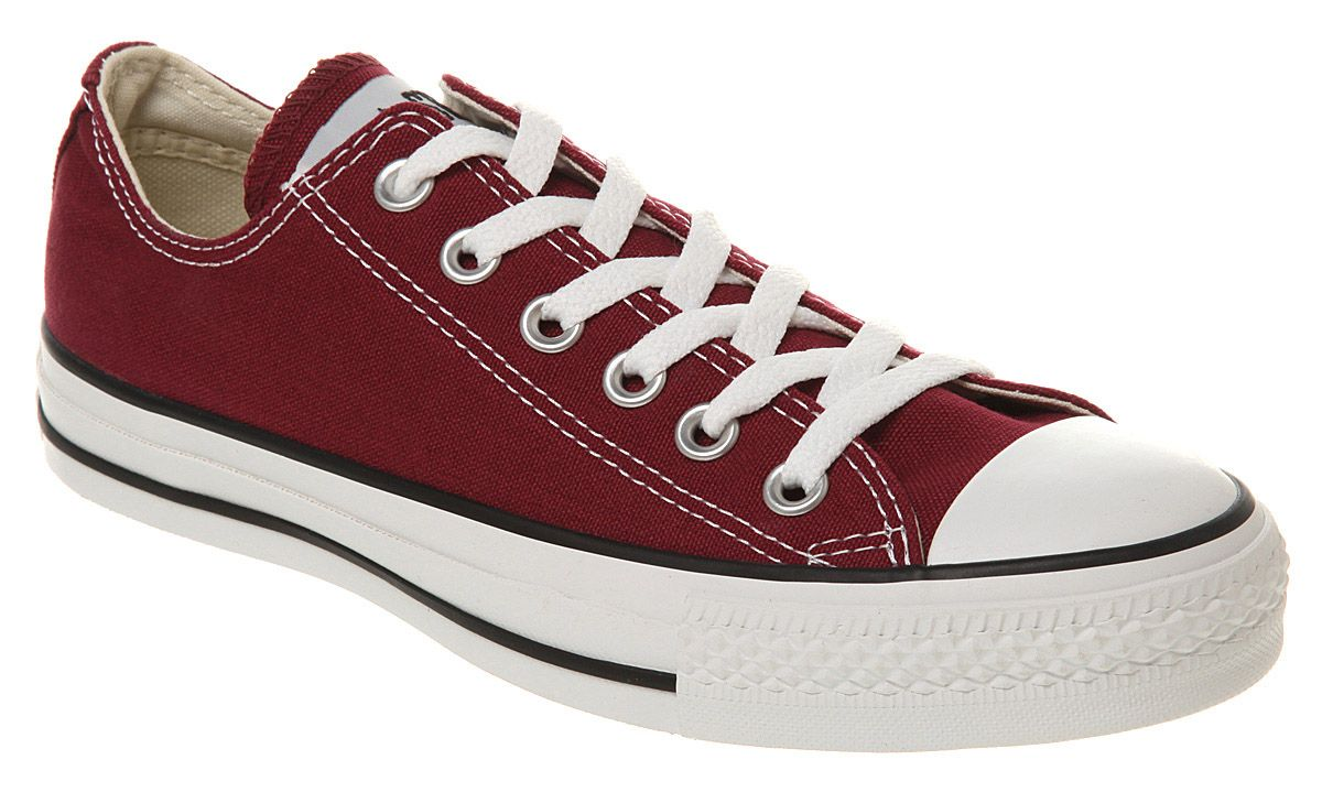 Converse All Star Ox Low Maroon Canvas