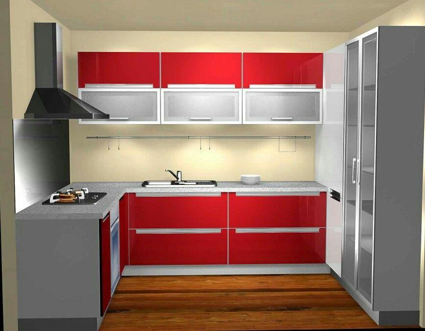 Red kitchen   Kitchen design small space, Kitchen design ...