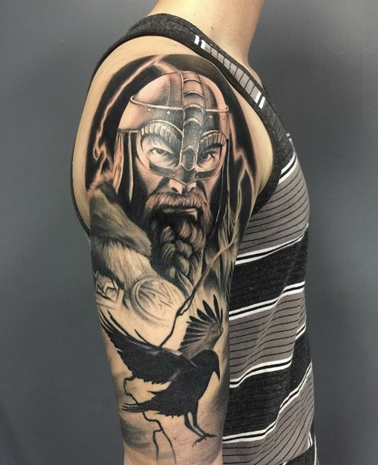 Second session on my viking half sleeve. Done by Urban at AAA in Lafayette La