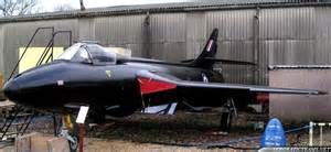 BLACK ARROWS Hawker Hunter Aerobatic Team --- 'bedded down' for the night !!