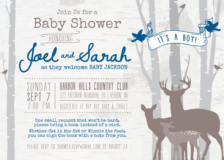 Download Now Deer Baby Shower Invitations