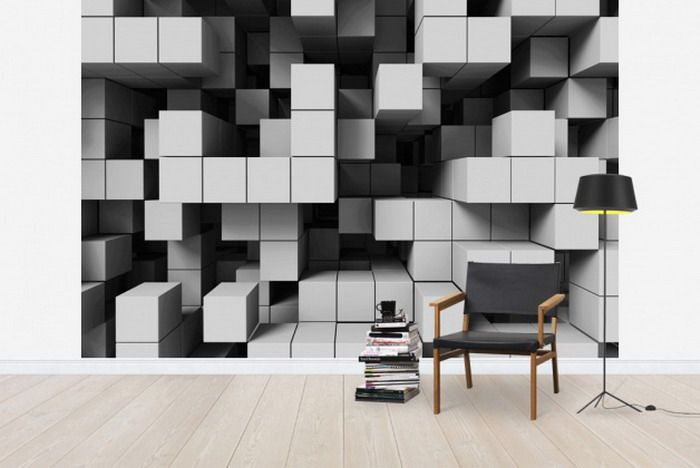 optical illusion wall paper | interiors | pinterest | 3d wall