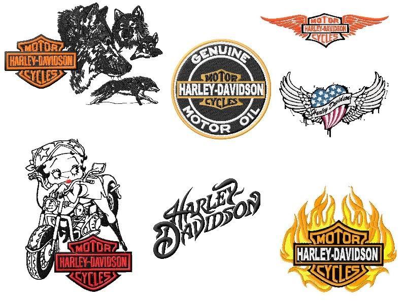 Harley davidson embroidery designs download
