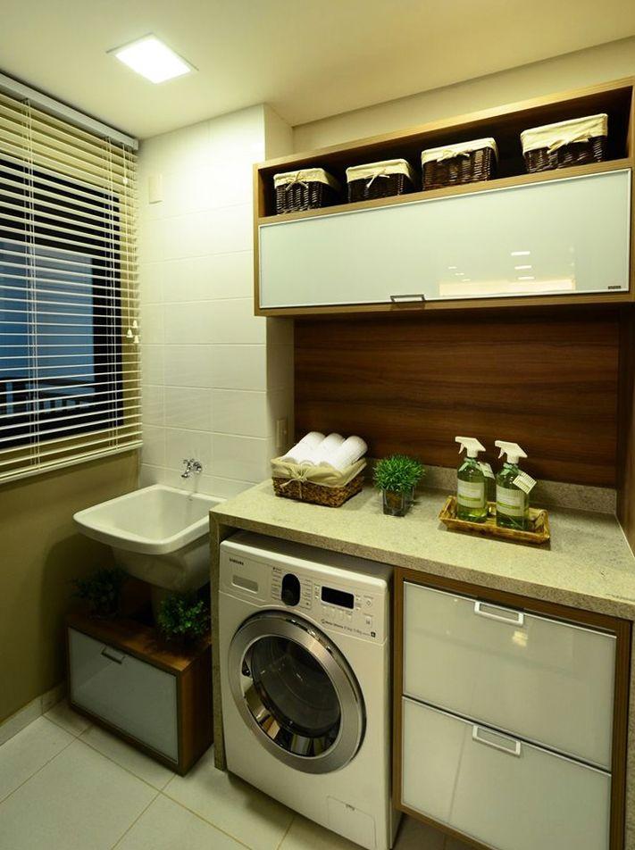 16 lavanderias pequenas pr ticas e modernas lavanderias for Portas de apartamentos modernas