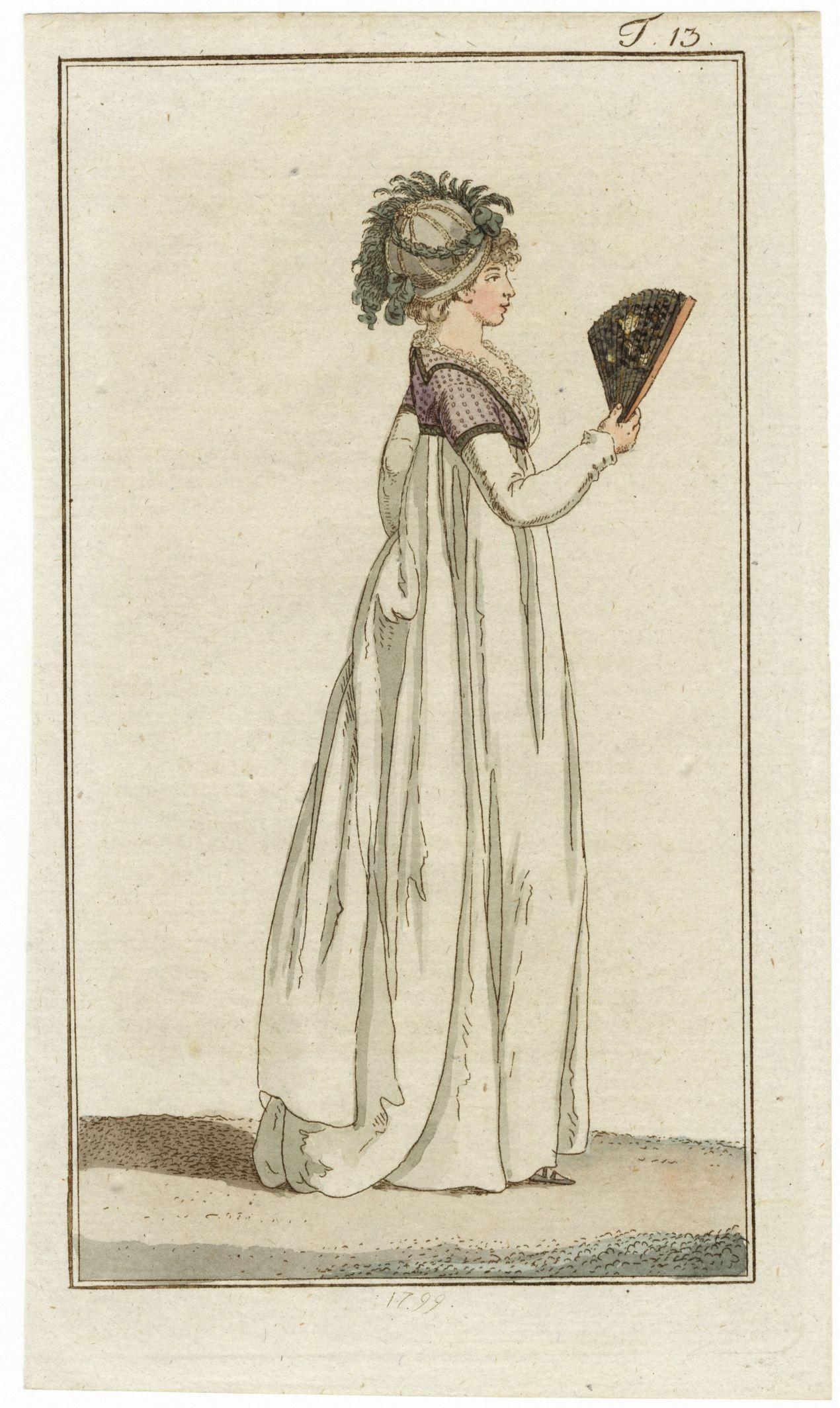 Journal des Luxus und der Moden 1799 n°13 Hand-colored engraving