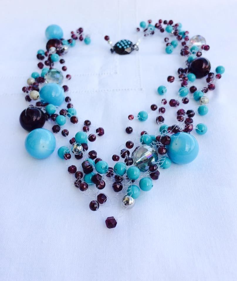 rivenditore di vendita 5ba97 51559 Favori collane fai da te: tre idee con le perle di granato ...